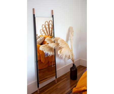 Espelho de Chão Wood Preto - Preto Fosco | WestwingNow
