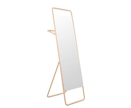 Espelho de Chão com Toalheiro Torian - Salmão | WestwingNow