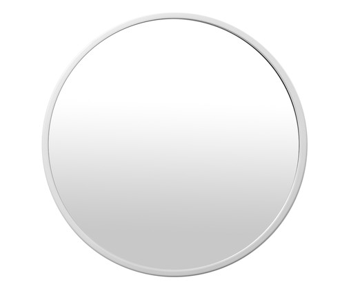 Espelho Round Full - Branco, Prata | WestwingNow