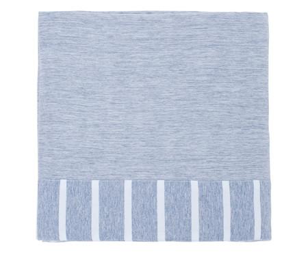 Lençol Superior Percal Listrado Chambre - Azul Jeans | WestwingNow