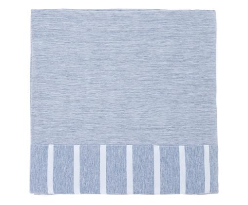 Lençol Superior Percal Listrado Chambre - Azul Jeans, Azul Jeans | WestwingNow