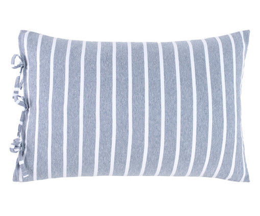 Fronha Dupla Face para Travesseiro King com Laços Chambre - Azul, Azul Jeans | WestwingNow