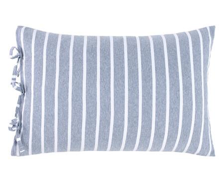 Fronha Dupla Face para Travesseiro King com Laços Chambre - Azul | WestwingNow