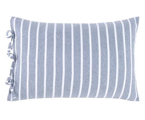 Fronha Dupla Face para Travesseiro King com Laços Chambre - Azul, Azul Jeans   WestwingNow