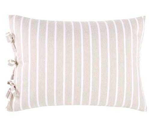 Fronha Dupla Face para Travesseiro King com Laços Chambre - Bege, Areia | WestwingNow