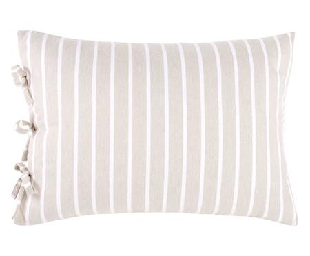 Fronha de Travesseiro Dupla Face com Laços Chambre - Bege | WestwingNow