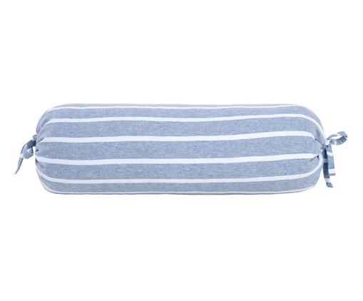 Almofada Rolinho Chambre - Azul, Azul Jeans | WestwingNow