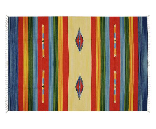 Tapete Indiano Kilim Quebreu Algodão - Colorido, Colorido | WestwingNow