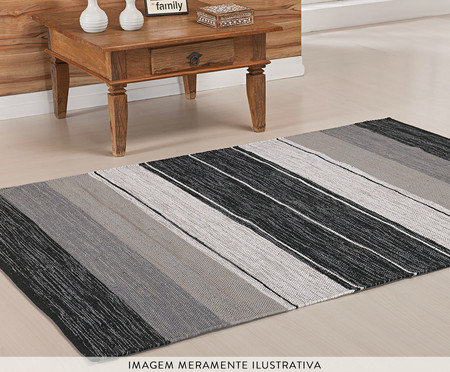 Tapete Indiano Kilim Basar - Cinza | WestwingNow