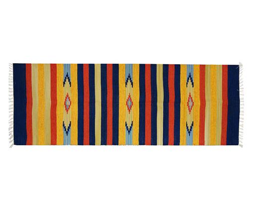 Passadeira Indiana Kilim Janak, Amarelo e Azul | WestwingNow