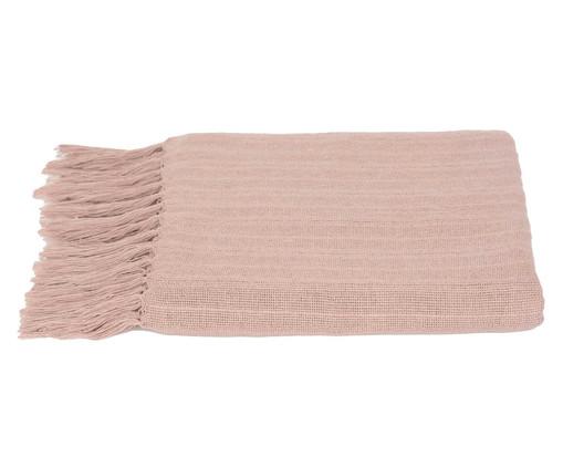 Manta de Algodão com Franja Naturale - Rosa, Rosa Seco | WestwingNow