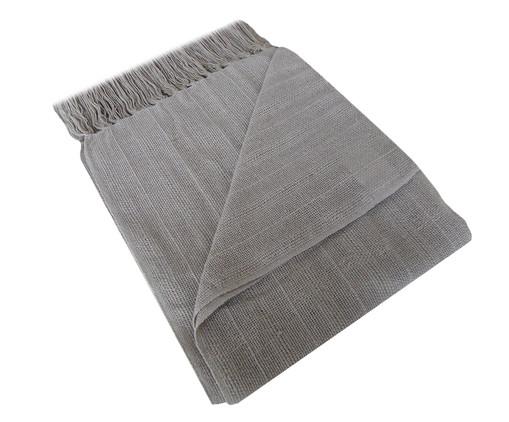 Manta de Algodão com Franja Naturale - Cinza, Cinza | WestwingNow