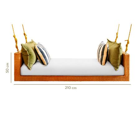Sofá de Balanço de Fibra Sintética Marquesa Trancoso - Branco   WestwingNow