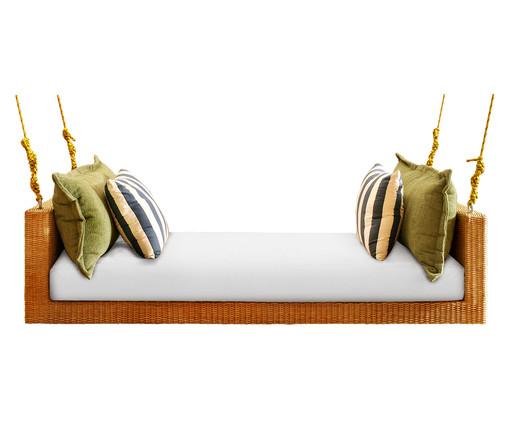 Sofá de Balanço de Fibra Sintética Marquesa Trancoso - Branco, Colorido | WestwingNow