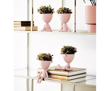 Vaso Decorativo Pessoa Deitada - Rosê | WestwingNow