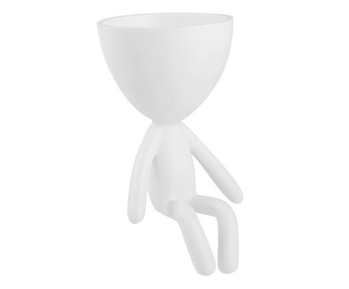 Vaso Decorativo Pessoa Sentada - Branco, Branco | WestwingNow