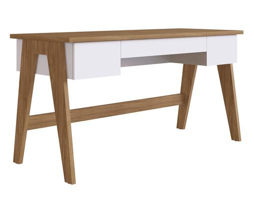 Escrivaninha de Madeira Trend - Natural e Branco, branco | WestwingNow