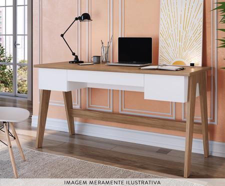 Escrivaninha de Madeira Trend - Natural e Branca | WestwingNow