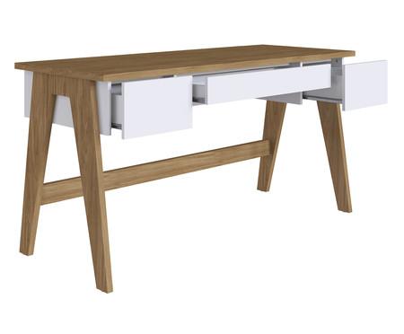 Escrivaninha de Madeira Trend - Natural e Branco | WestwingNow