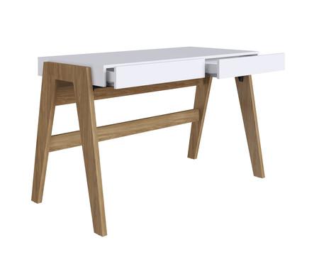 Escrivaninha de Madeira Noma - Natural e Branco | WestwingNow