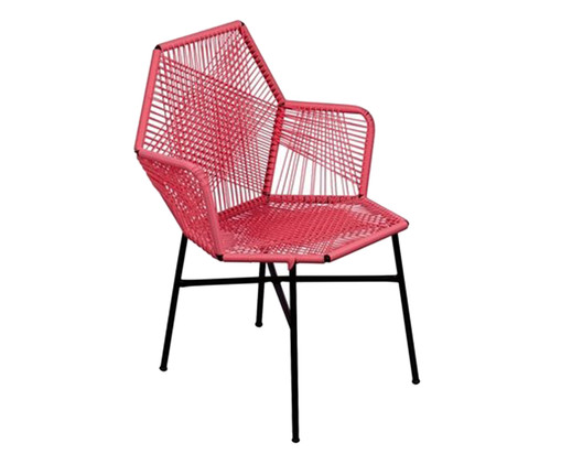 Cadeira de Fibra Sintética Tropicalia - Living Coral, Laranja | WestwingNow