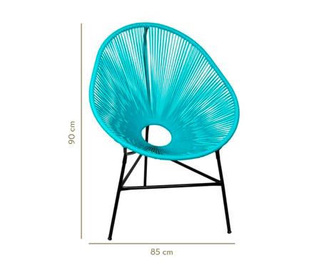 Cadeira Acapulco Baka - Azul Tiffany | WestwingNow