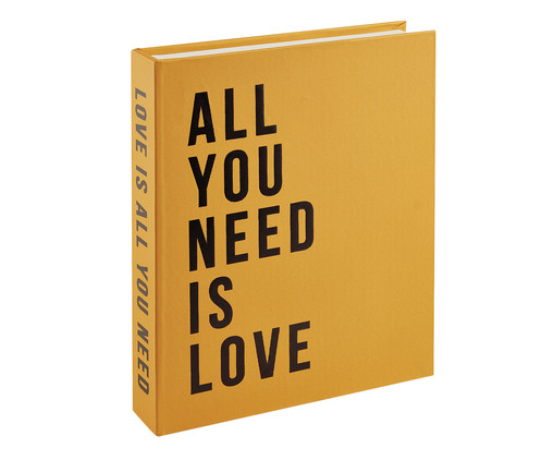 Livro Caixa Organizador All You Need Is Love - Amarelo, Cobre,preto | WestwingNow