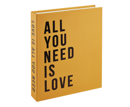 Livro Caixa Organizador All You Need Is Love - Amarelo | WestwingNow