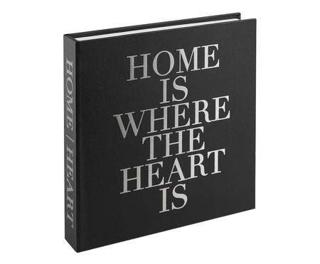 Livro Caixa Decorativo Home - Preto | WestwingNow
