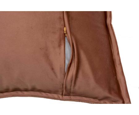 Almofada em Veludo Ripado - Terracota | WestwingNow
