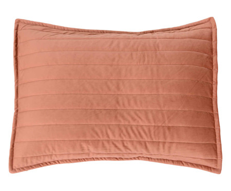 Porta Travesseiro em Veludo Ripado Terracota | WestwingNow