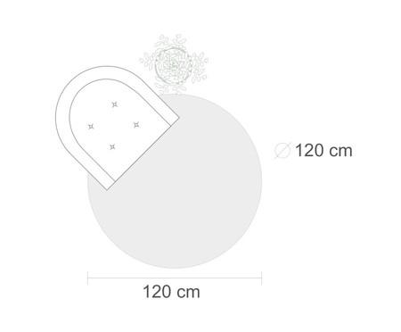 Tapete Redondo Brooklyn Debrum Aurea Geométrico - Bege e Marfim | WestwingNow