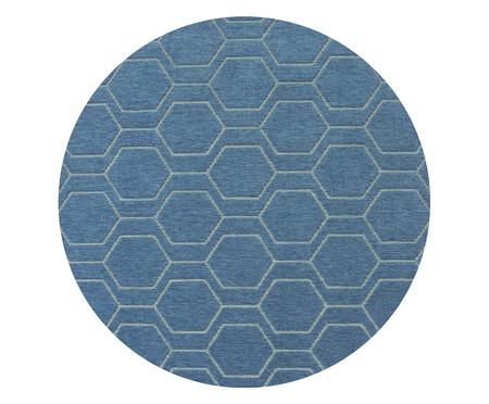 Tapete Redondo Geométrico Studio Debrum Six - Azul | WestwingNow