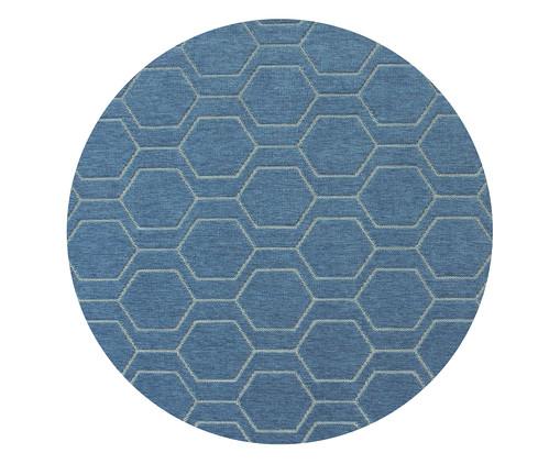 Tapete Redondo Geométrico Studio Debrum Six - Azul, Indigo | WestwingNow