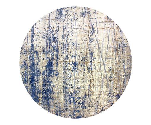 Tapete Redondo Turco Lika Debrum - Cinza e Azul, Cinza e Azul | WestwingNow