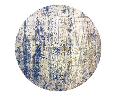 Tapete Redondo Turco Lika Debrum - Cinza e Azul | WestwingNow