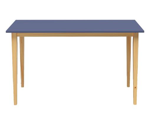 Mesa de Jantar Retangular em Madeira Pine - Azul, Azul | WestwingNow