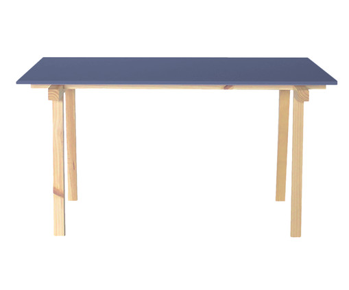 Mesa de Jantar Retangular Cavaletto - Azul Petróleo, Azul | WestwingNow