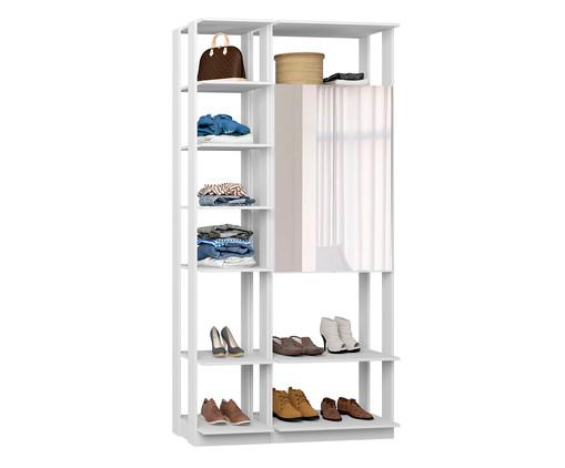 Guarda-Roupa com Espelho Clothes - Branco, Branco | WestwingNow