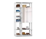 Guarda-Roupa com Espelho Clothes - Branco | WestwingNow