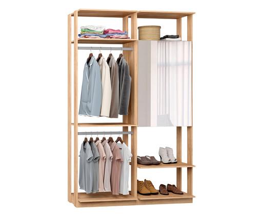 Guarda-Roupa com Espelho Clothes - Mel, Natural | WestwingNow