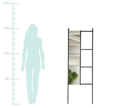 Espelho Mirror Stair - Preto | WestwingNow