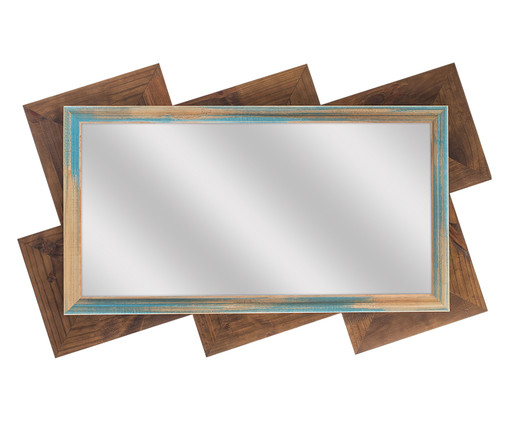 Espelho Vision - Marrom, Marrom, Natural, Espelhado | WestwingNow