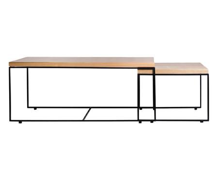 Jogo de Mesas de Centro Ramona Wood Long Eucalipto | WestwingNow