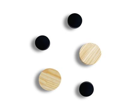 Jogo de Ganchos de Madeira Dot - Natural | WestwingNow