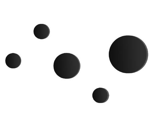 Jogo de Ganchos Dot - Preto, Preto | WestwingNow