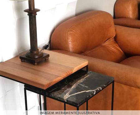 Jogo de Mesas Auxiliares em Madeira Ramona - Preto | WestwingNow
