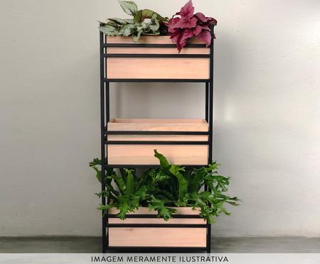 Floreira de Ferro Box - Madeira | WestwingNow