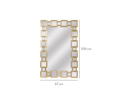 Espelho de Parede Pavia Dourado - 67X104cm | WestwingNow