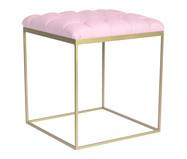 Banquinho em Ferro Cubo - Dourado e Rosa | WestwingNow